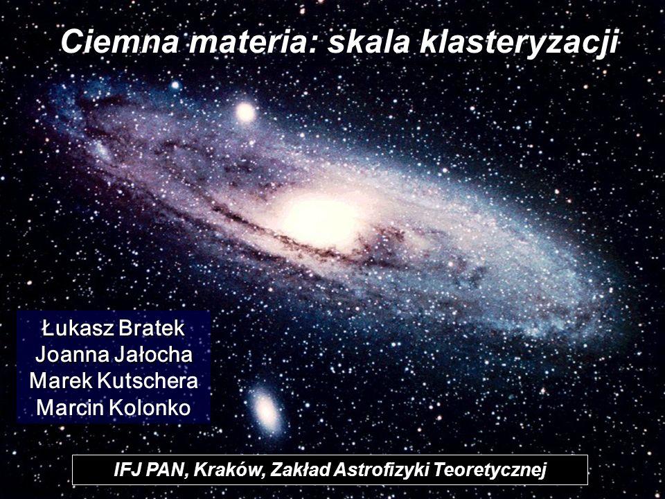 Ciemna materia: skala klasteryzacji