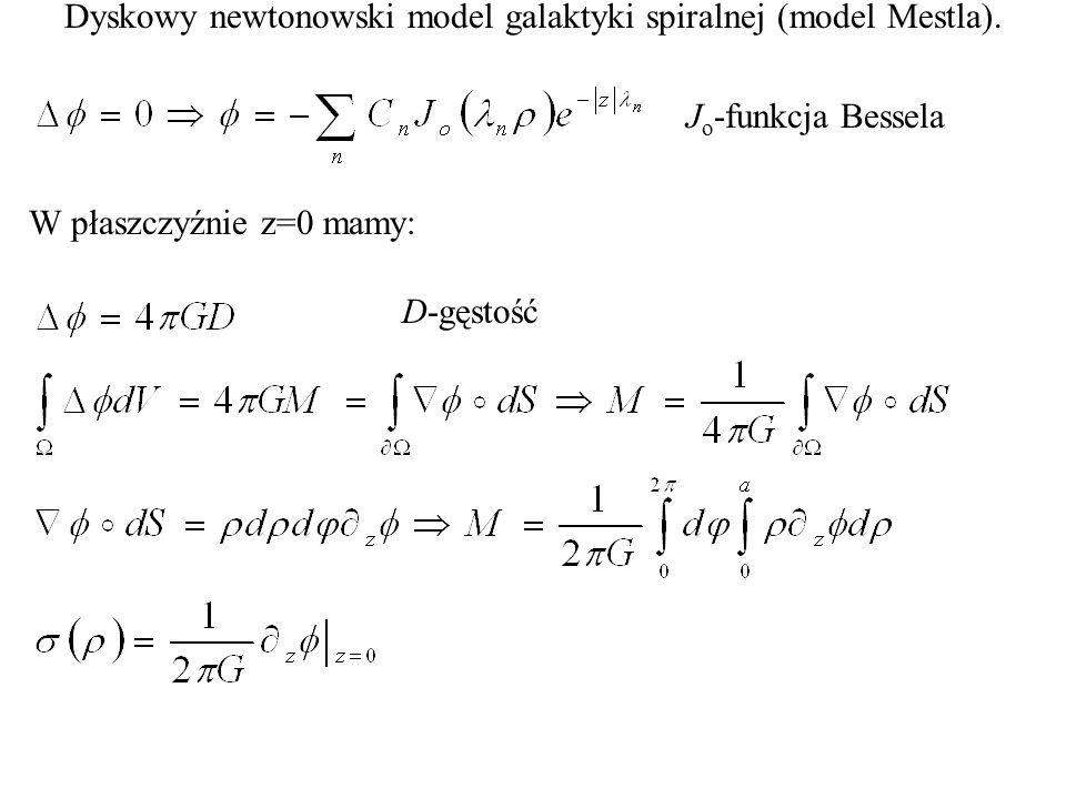 Dyskowy newtonowski model galaktyki spiralnej (model Mestla).