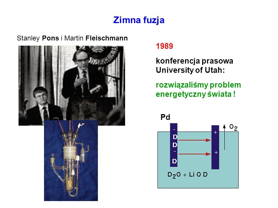 Zimna fuzja 1989 konferencja prasowa University of Utah: