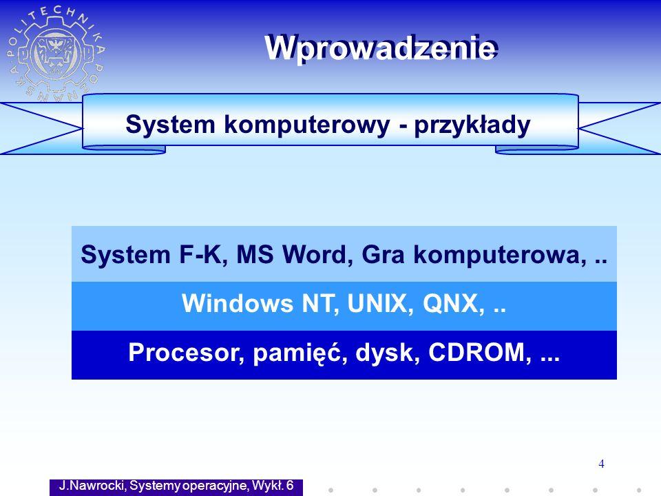 Wprowadzenie System komputerowy - przykłady