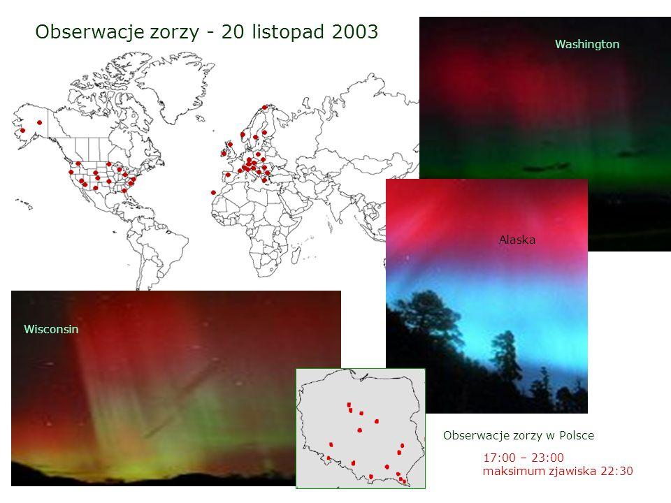 Obserwacje zorzy - 20 listopad 2003