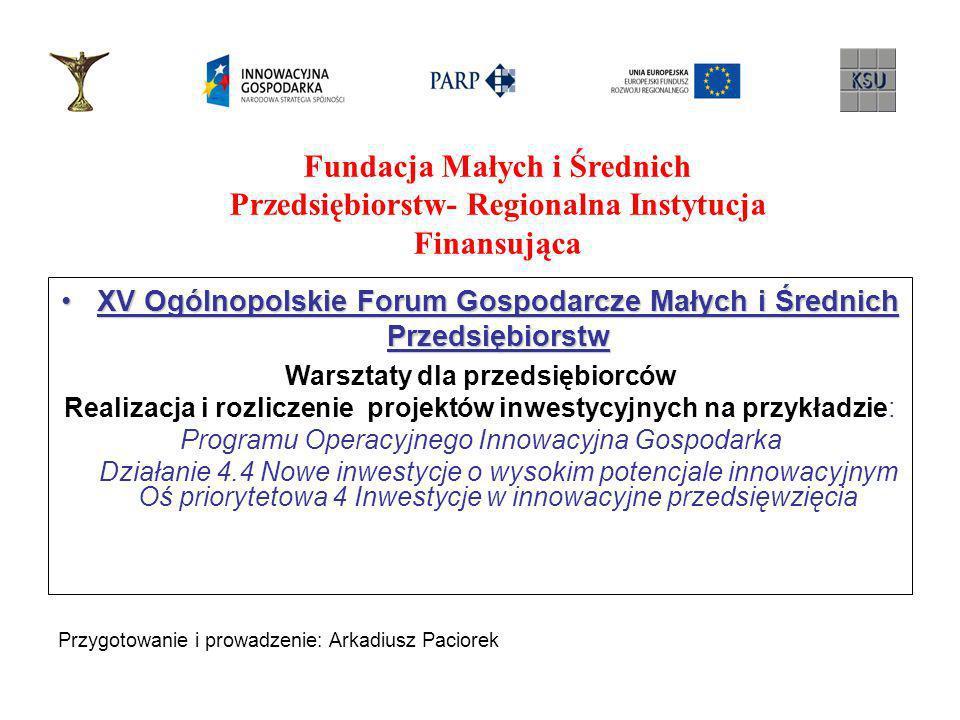 XV Ogólnopolskie Forum Gospodarcze Małych i Średnich Przedsiębiorstw