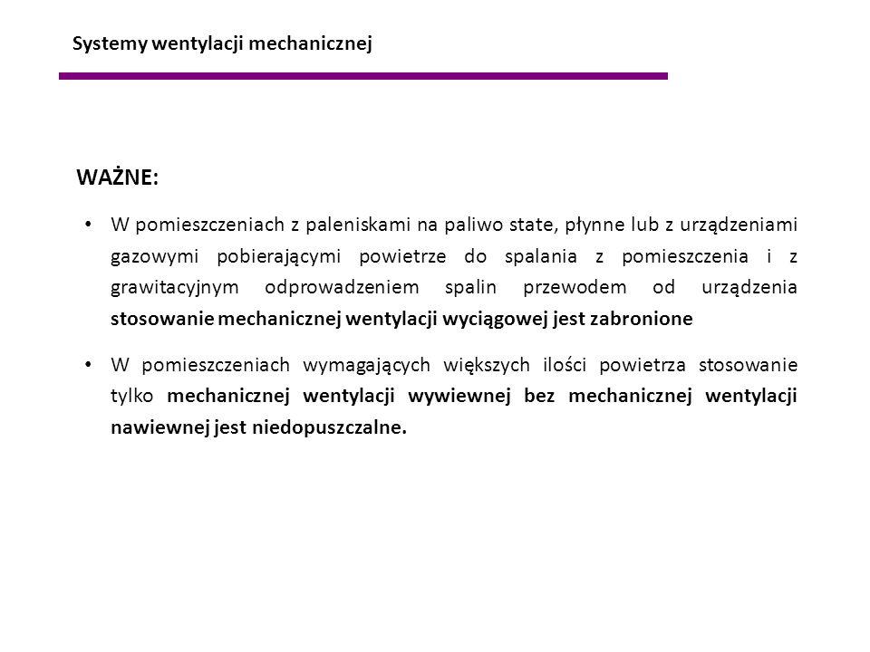 WAŻNE: Systemy wentylacji mechanicznej