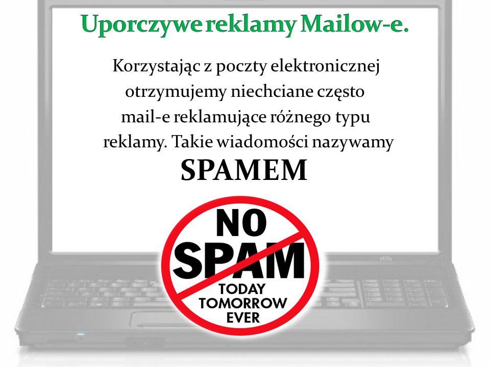 Uporczywe reklamy Mailow-e.