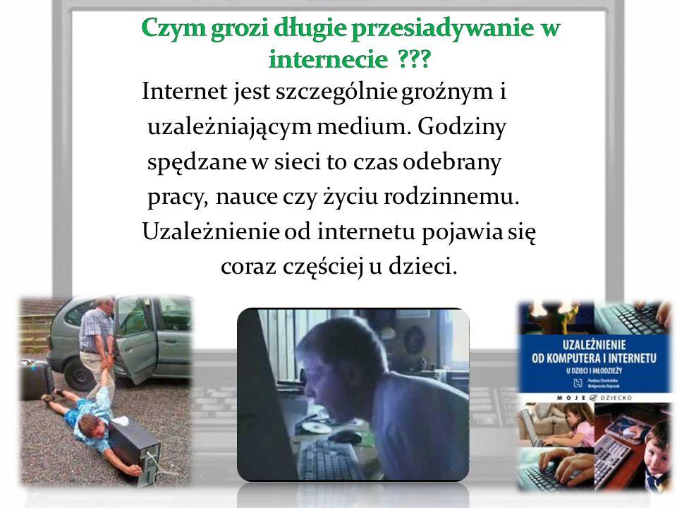 Czym grozi długie przesiadywanie w internecie