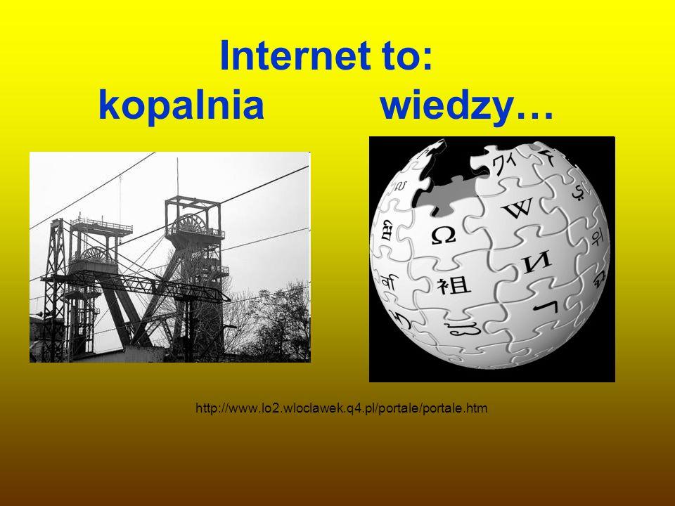 Internet to: kopalnia wiedzy…