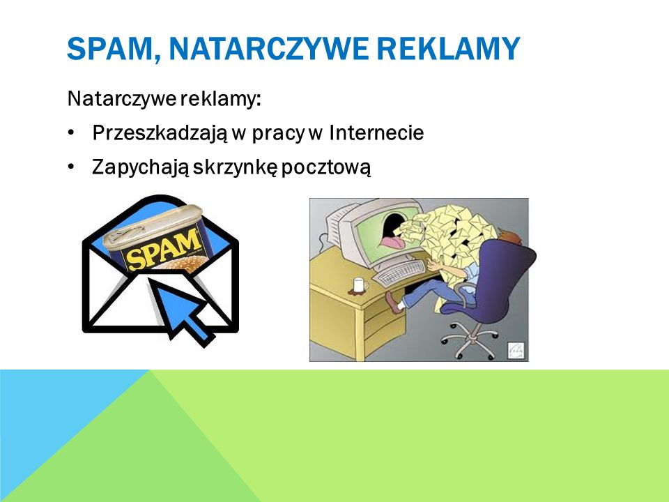 Spam, natarczywe reklamy