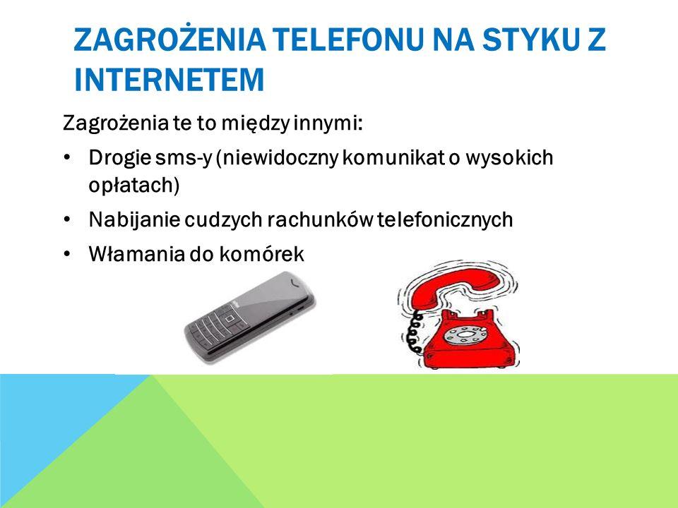 Zagrożenia telefonu na styku z internetem