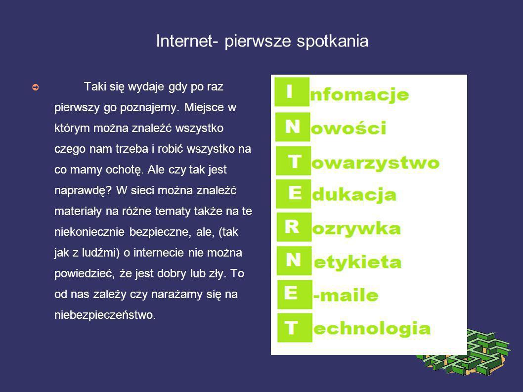 Internet- pierwsze spotkania