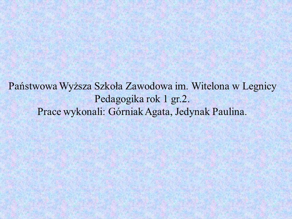Prace wykonali: Górniak Agata, Jedynak Paulina.