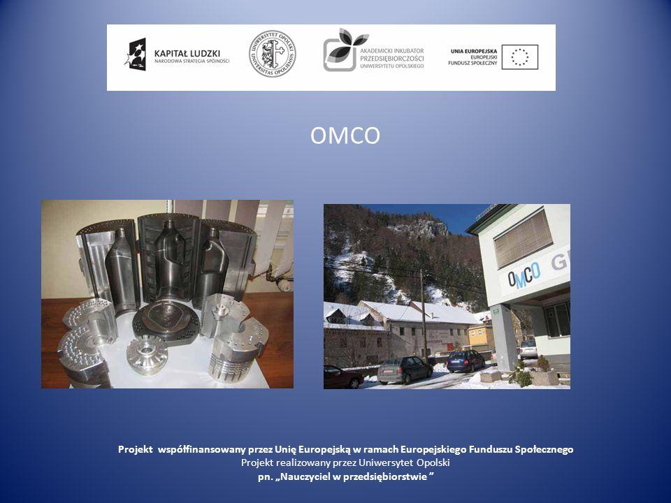 OMCO Projekt współfinansowany przez Unię Europejską w ramach Europejskiego Funduszu Społecznego. Projekt realizowany przez Uniwersytet Opolski.