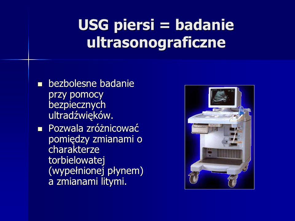 USG piersi = badanie ultrasonograficzne