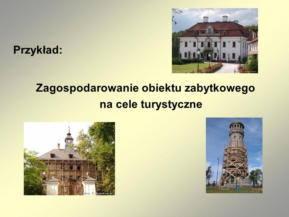 Zagospodarowanie obiektu zabytkowego na cele turystyczne