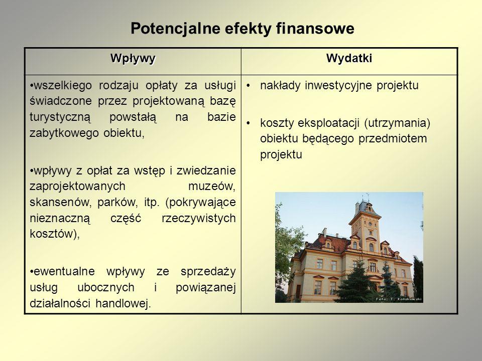 Potencjalne efekty finansowe