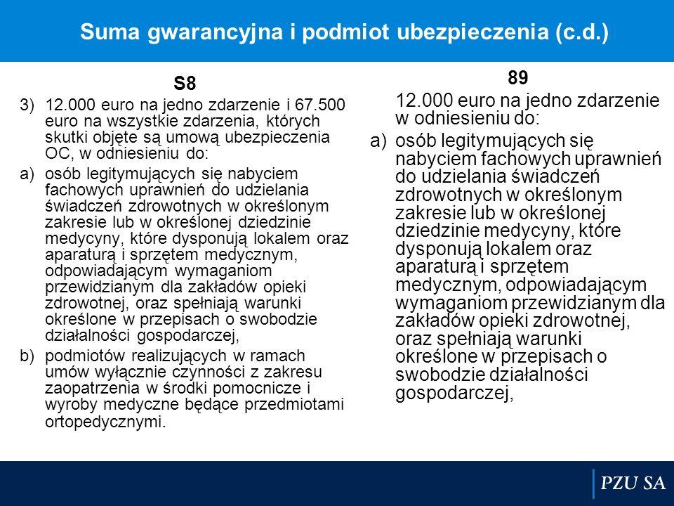 Suma gwarancyjna i podmiot ubezpieczenia (c.d.)