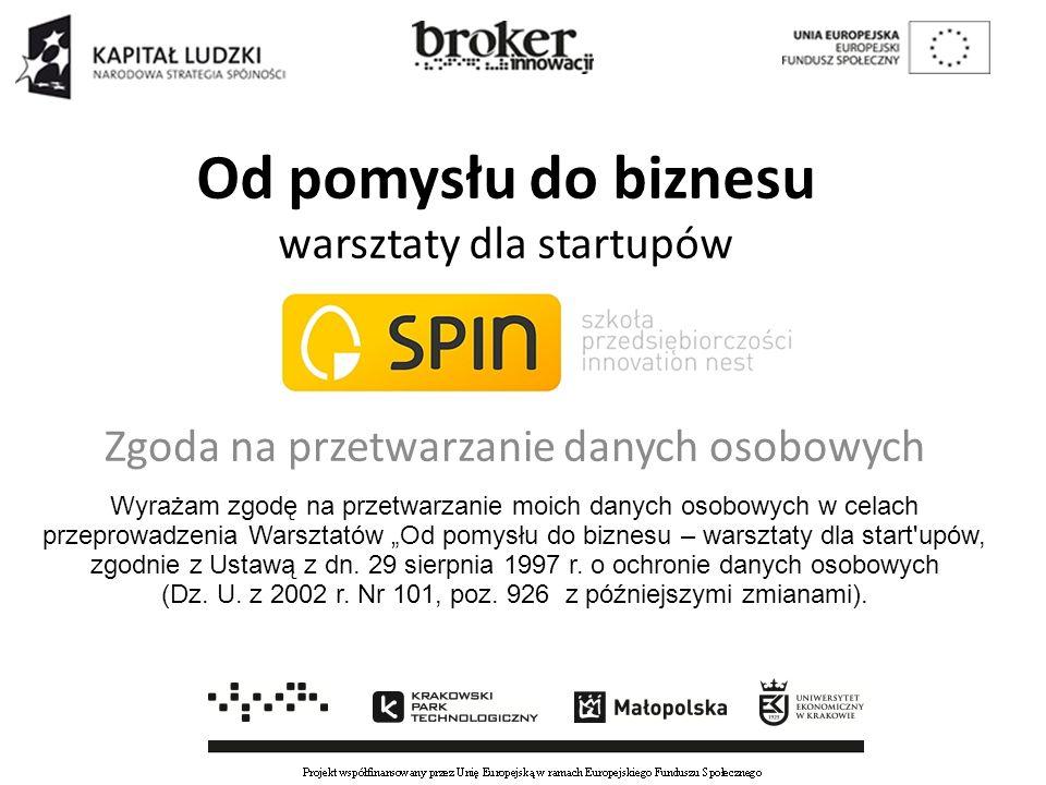 Od pomysłu do biznesu warsztaty dla startupów