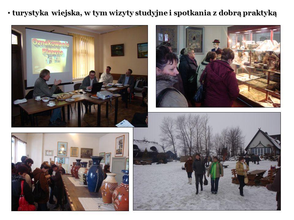 turystyka wiejska, w tym wizyty studyjne i spotkania z dobrą praktyką