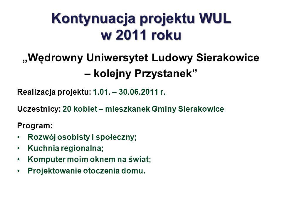 Kontynuacja projektu WUL w 2011 roku