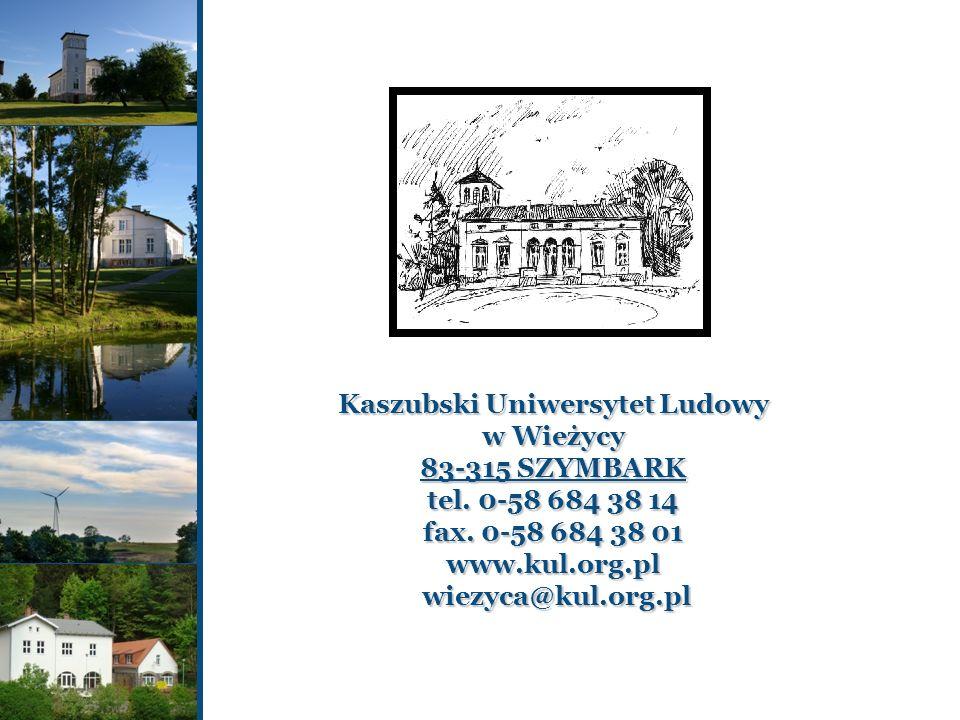 Kaszubski Uniwersytet Ludowy w Wieżycy 83-315 SZYMBARK tel
