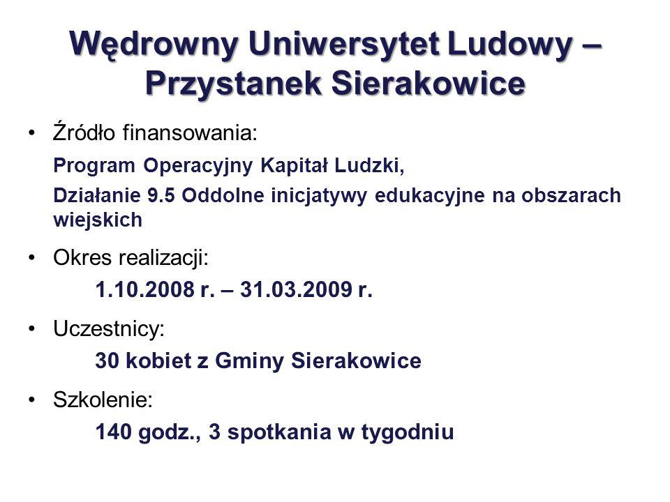 Wędrowny Uniwersytet Ludowy – Przystanek Sierakowice