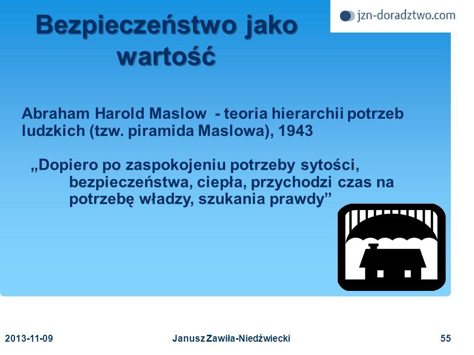 Bezpieczeństwo jako wartość Janusz Zawiła-Niedźwiecki
