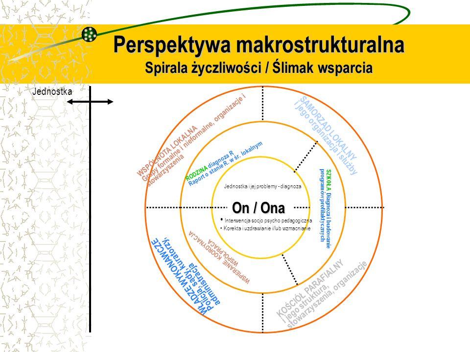 Perspektywa makrostrukturalna Spirala życzliwości / Ślimak wsparcia