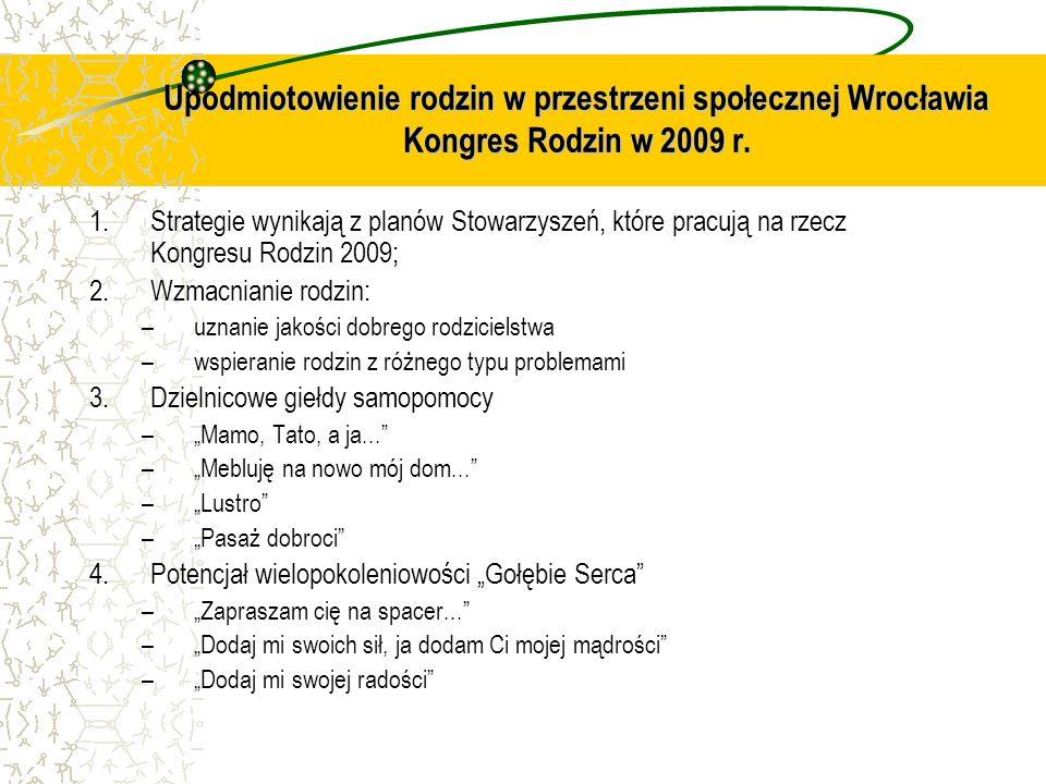 Upodmiotowienie rodzin w przestrzeni społecznej Wrocławia Kongres Rodzin w 2009 r.