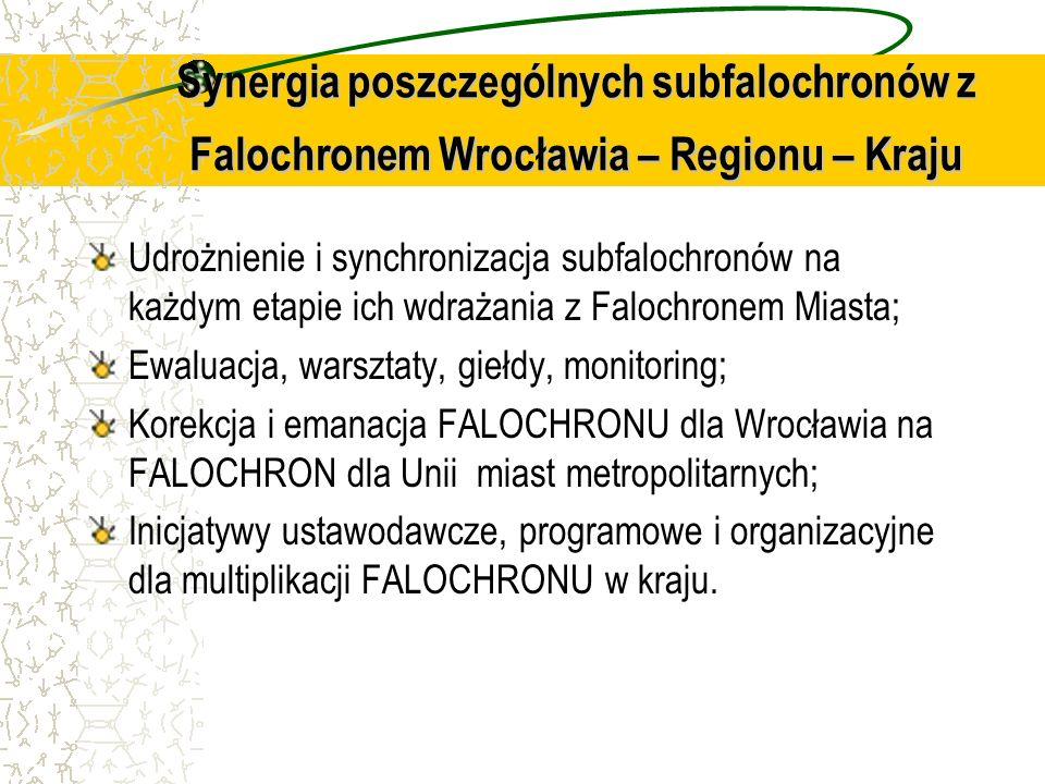 Synergia poszczególnych subfalochronów z Falochronem Wrocławia – Regionu – Kraju
