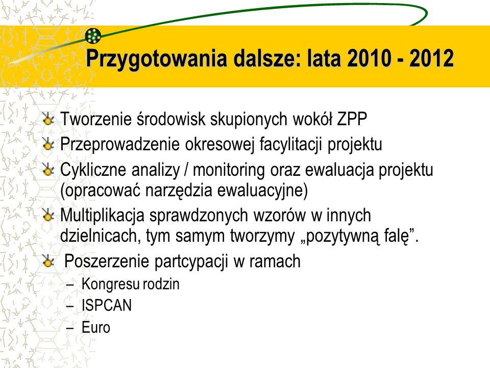 Przygotowania dalsze: lata 2010 - 2012