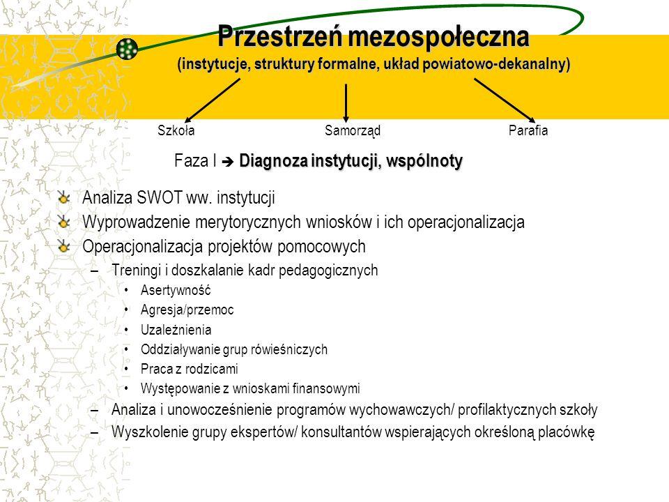Przestrzeń mezospołeczna (instytucje, struktury formalne, układ powiatowo-dekanalny)