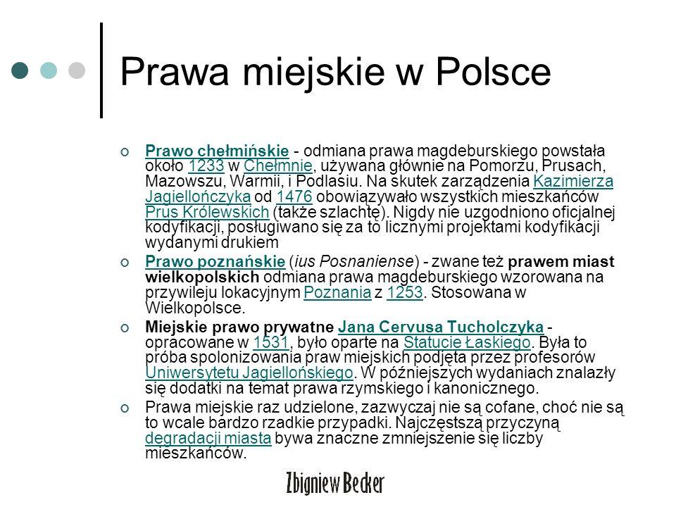 Prawa miejskie w Polsce