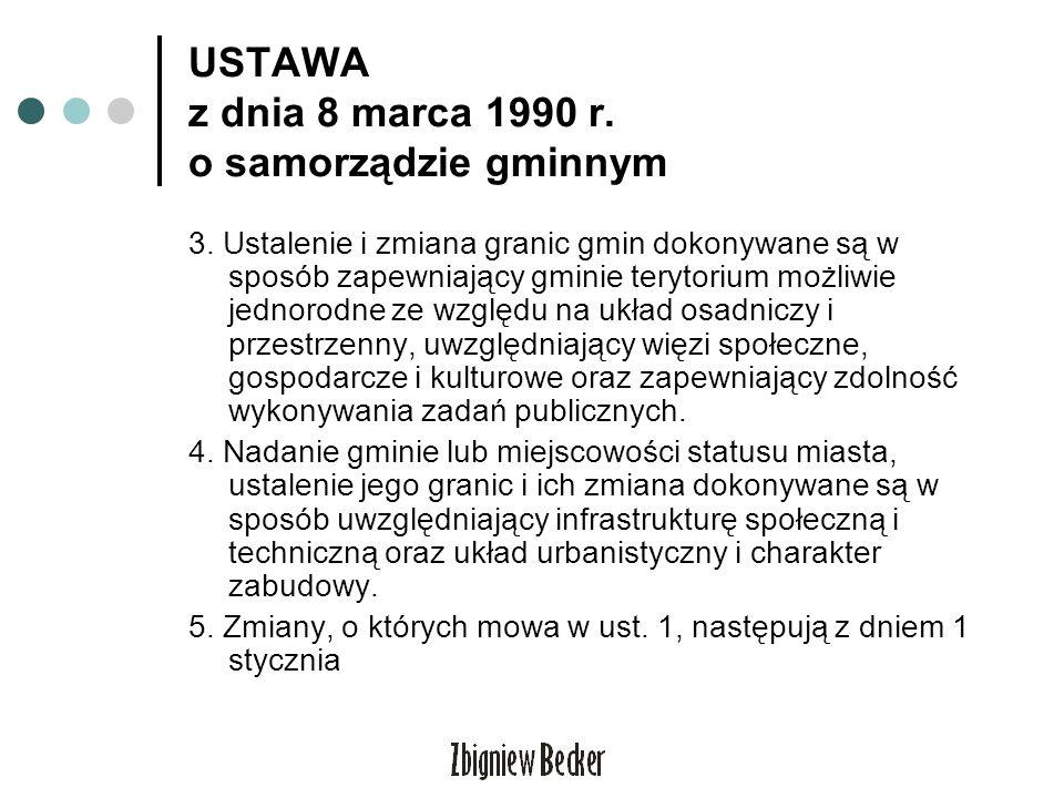 USTAWA z dnia 8 marca 1990 r. o samorządzie gminnym