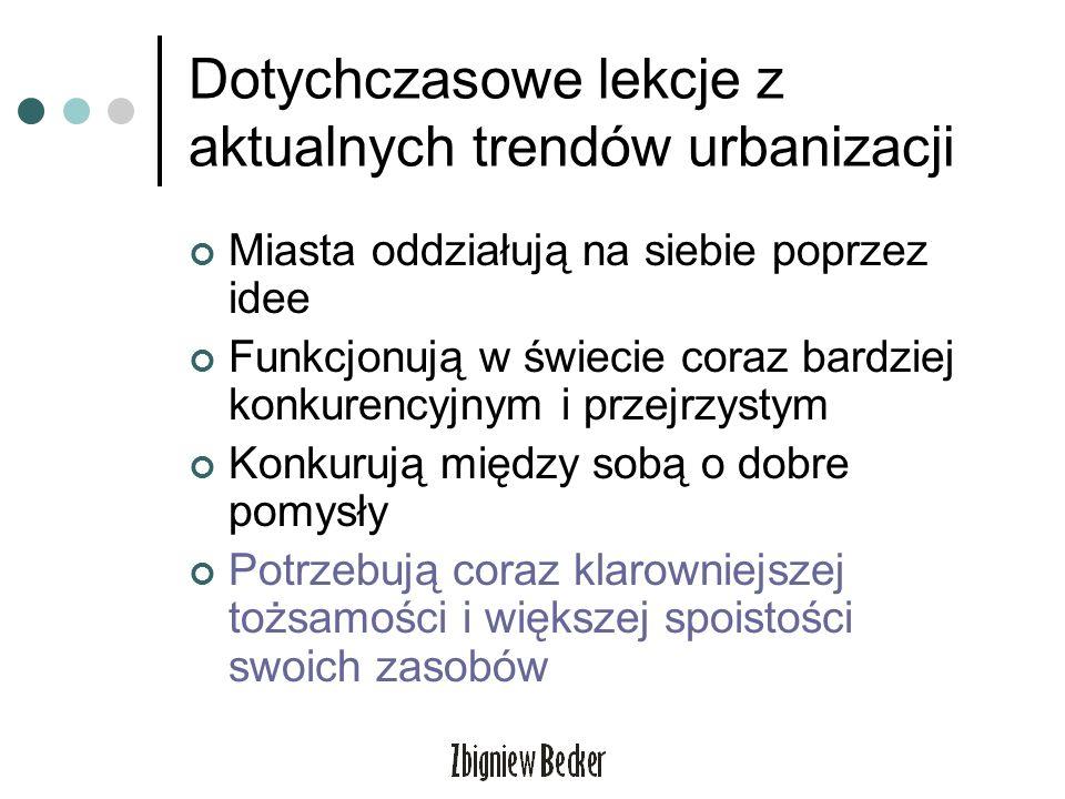Dotychczasowe lekcje z aktualnych trendów urbanizacji