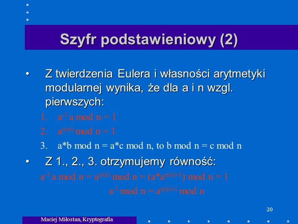 Szyfr podstawieniowy (2)