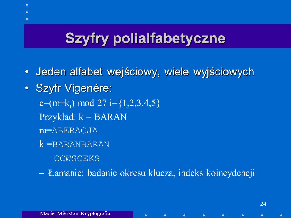Szyfry polialfabetyczne