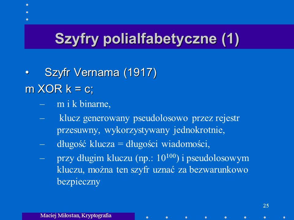 Szyfry polialfabetyczne (1)