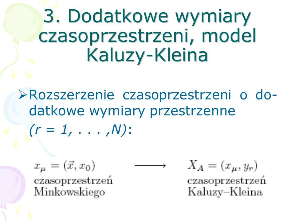 3. Dodatkowe wymiary czasoprzestrzeni, model Kaluzy-Kleina