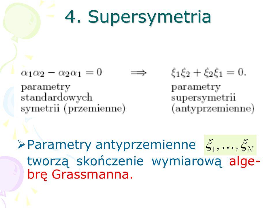 4. Supersymetria Parametry antyprzemienne
