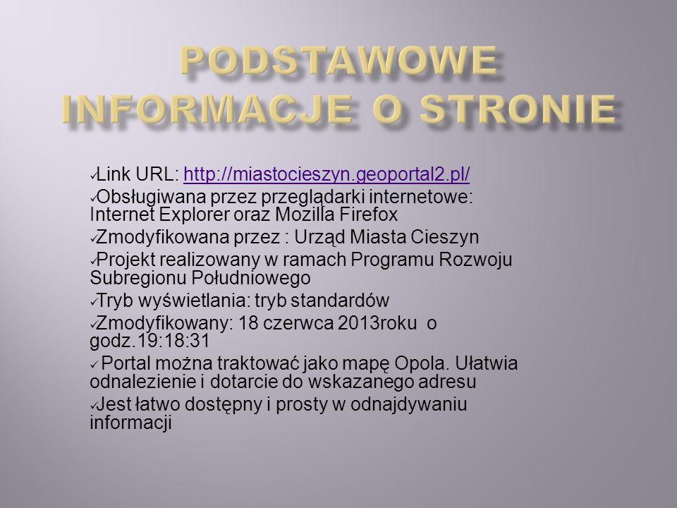 Podstawowe informacje o stronie