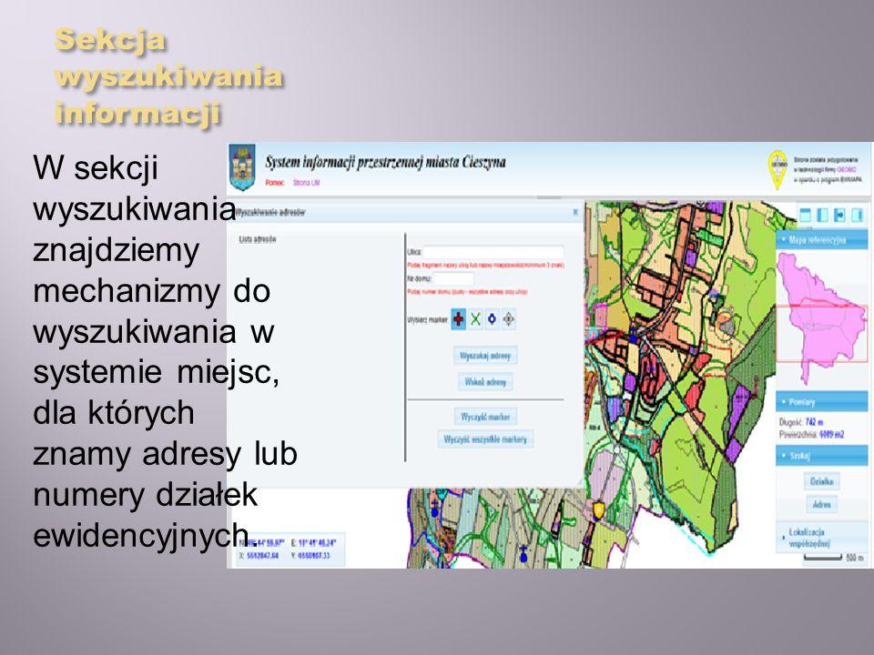 Sekcja wyszukiwania informacji