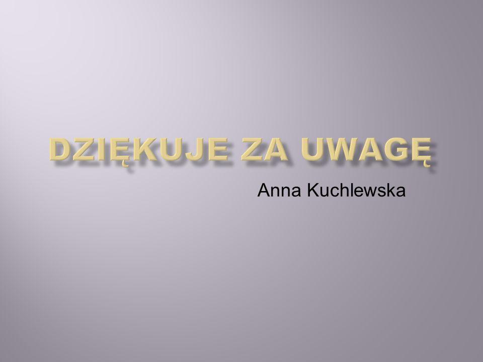 Dziękuje za uwagę Anna Kuchlewska