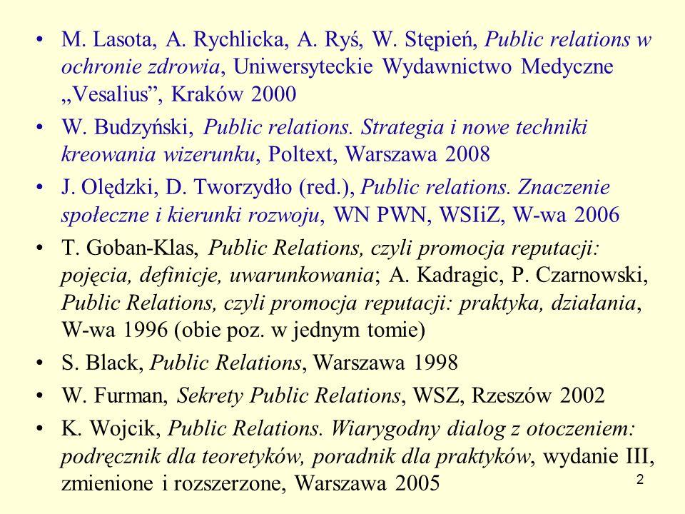M. Lasota, A. Rychlicka, A. Ryś, W