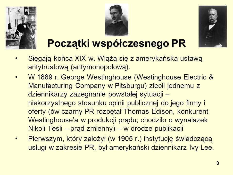 Początki współczesnego PR