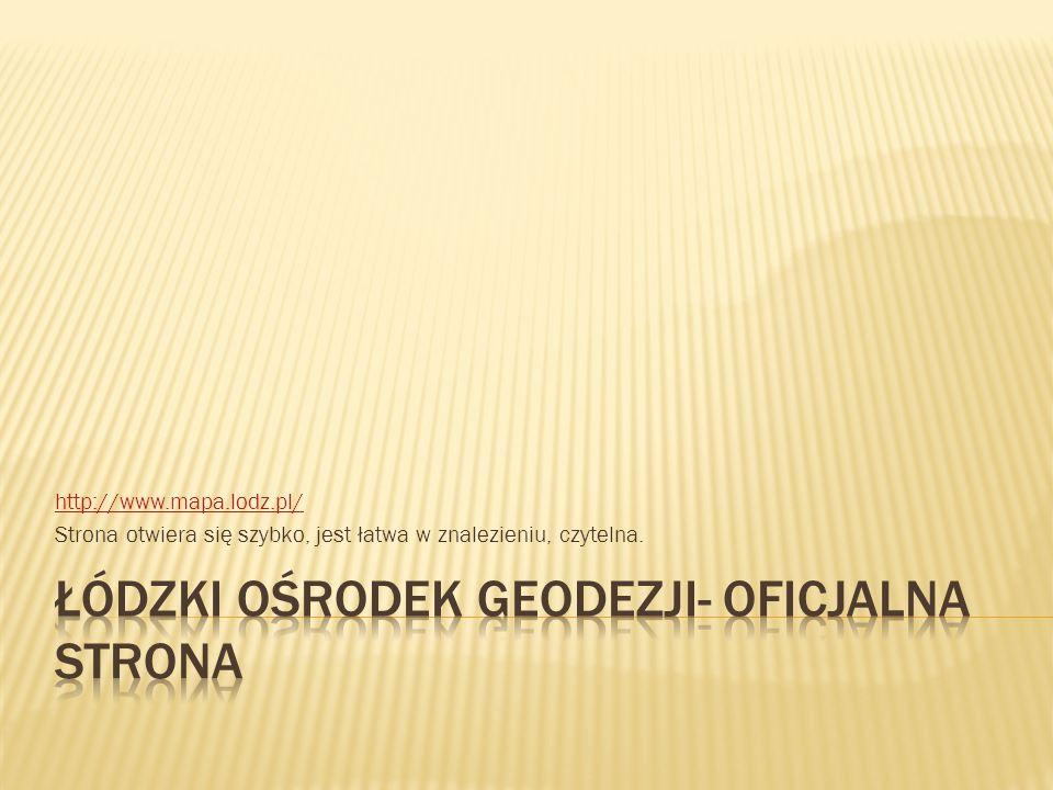 Łódzki ośrodek geodezji- oficjalna strona