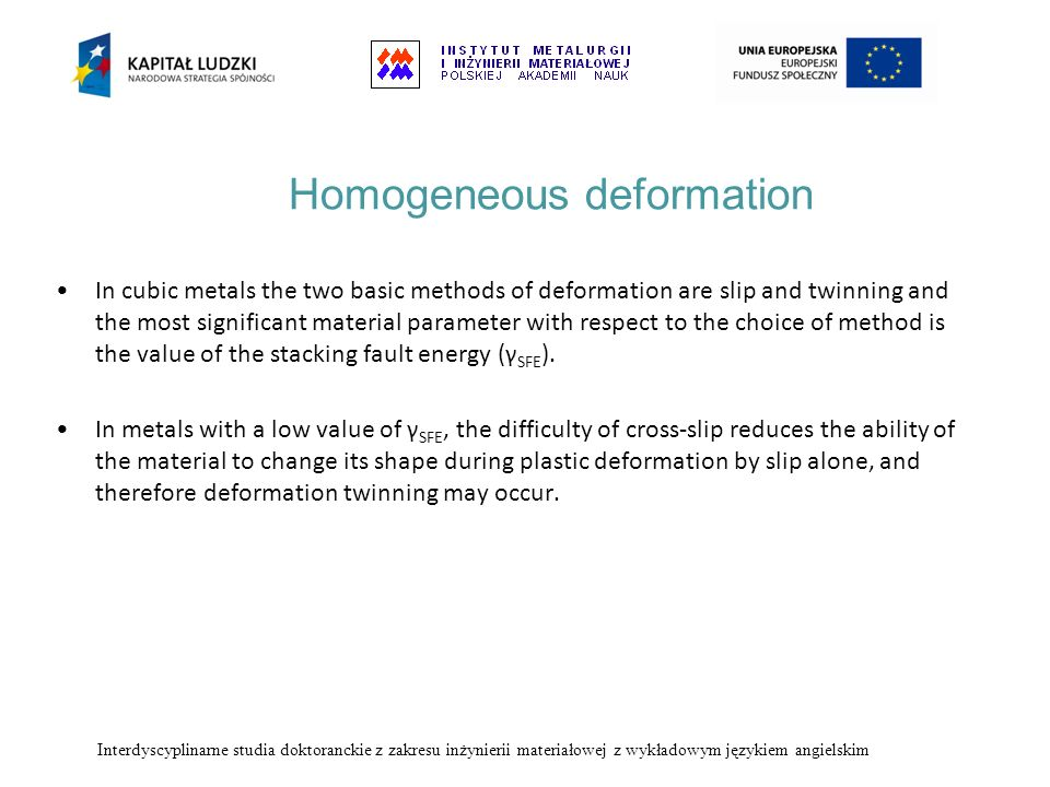 Homogeneous deformation