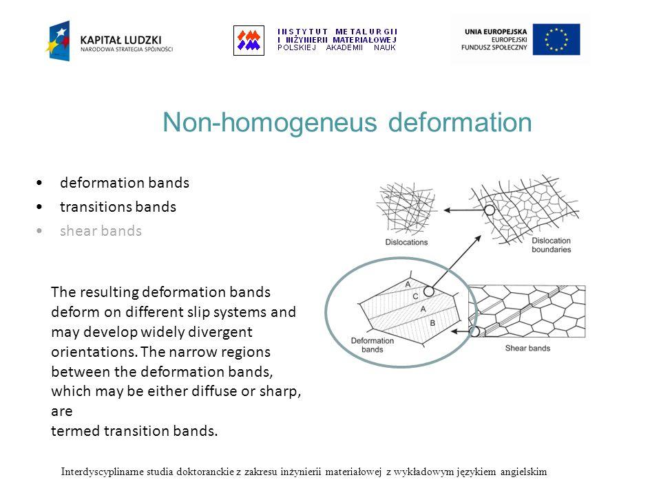 Non-homogeneus deformation