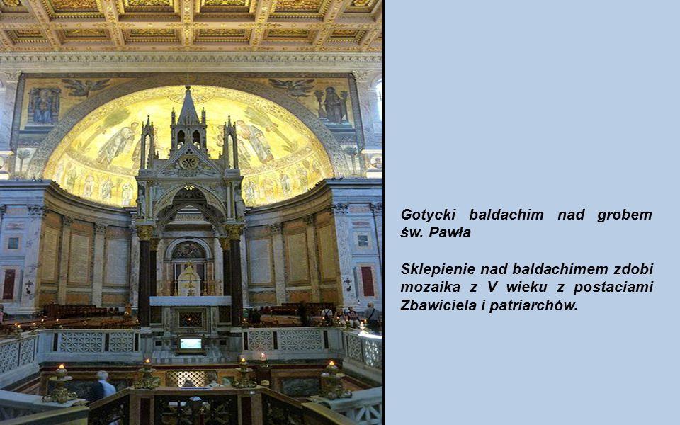 Gotycki baldachim nad grobem św. Pawła