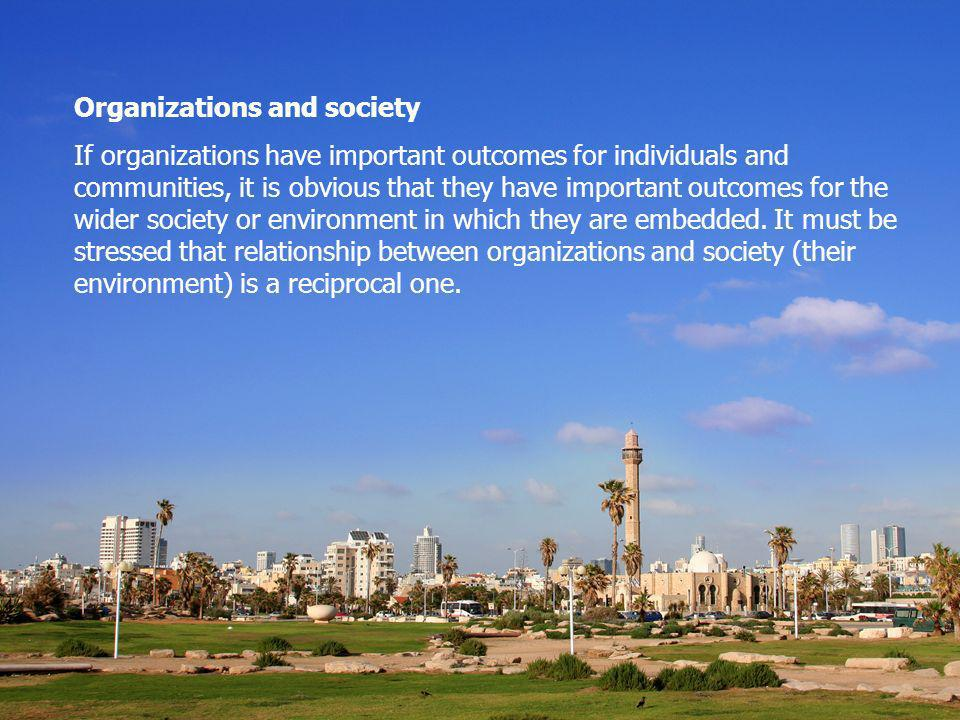 Organizations and society