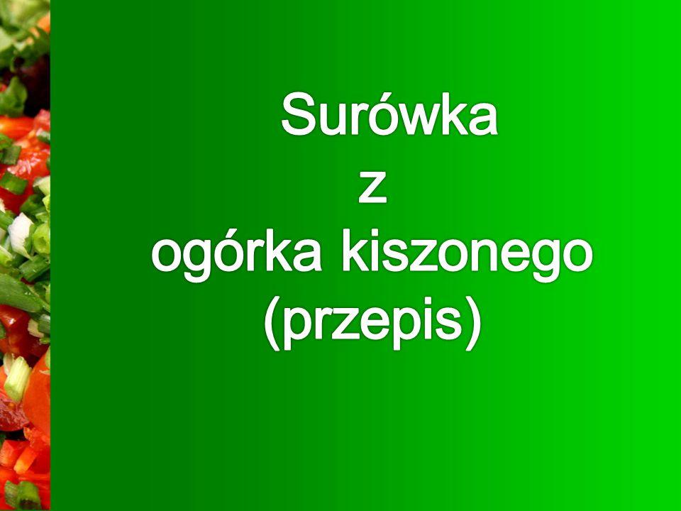 Surówka z ogórka kiszonego (przepis)
