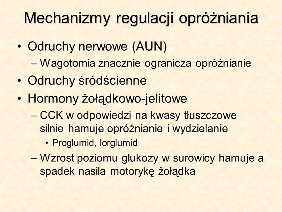 Mechanizmy regulacji opróżniania